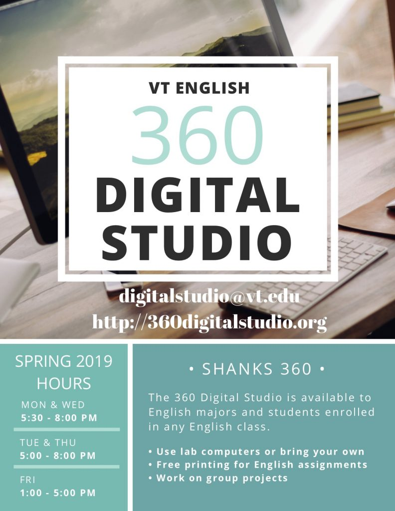 Spring 2019 Digital Studio Flier